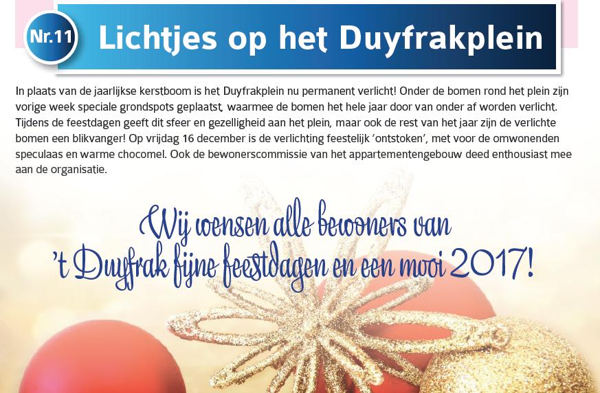 Nieuwsbrief 't Duyfrak Katwijk - tekstproductie