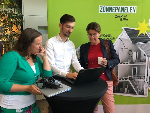 Stand van Greenchoice tijdens interne sessie
