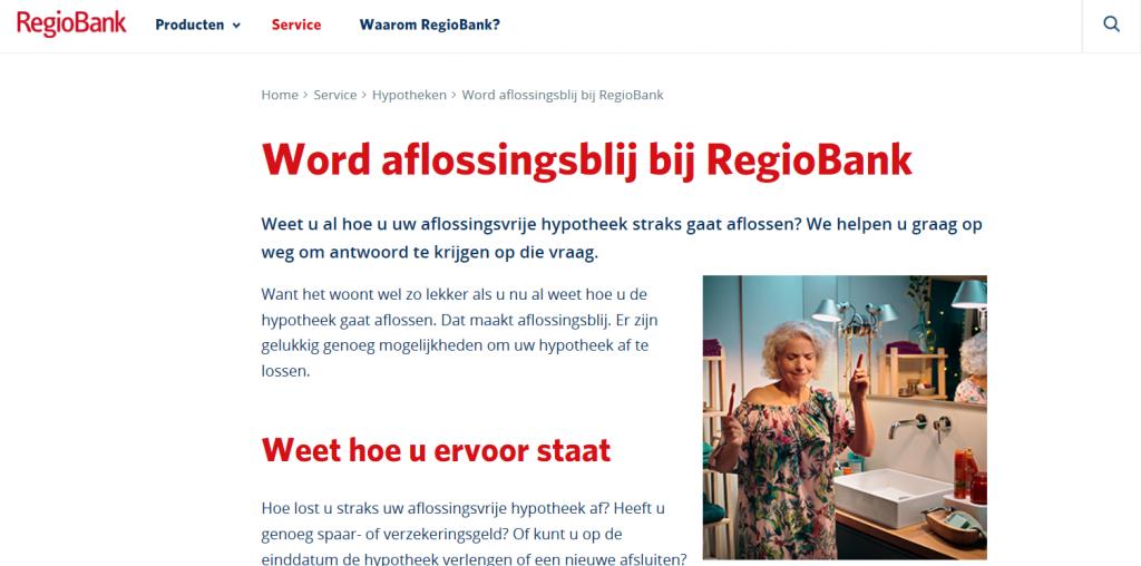 Externe campagne RegioBank