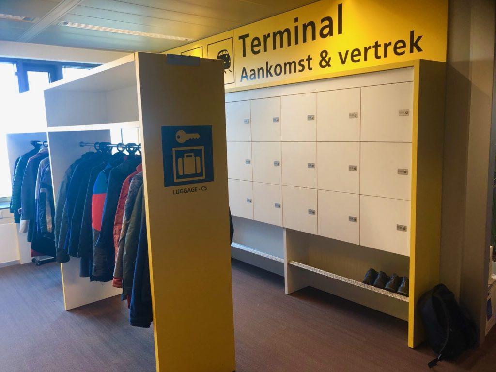 Aankomst en vertrek bij Schiphol